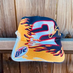 Vintage 90s Nascar Allover print Rusty Wallace hat
